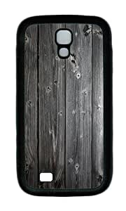 Samsung S4 Case,VUTTOO Cover With Photo: Wood Wall For Samsung Galaxy S4 I9500 - TPU Black