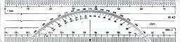 Westcott LetterCraft  6-Inch Metric Protractor Ruler (W-43 BP)