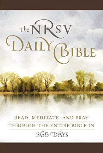 (By Harper Bibles The NRSV Daily Bible (Brown Imitation Leather): Read, Meditate, and Pray Through the Entire Bible in (Lea) [Leather Bound])