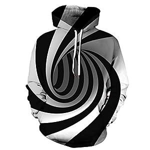 Mosszra Woman Punk Art Design Style Print Pocket Sweatshirt Long Sleeves Hoodies