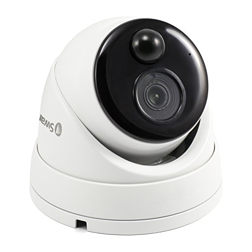 Swann SWNHD-886MSD-US 4K Resolution with PIR Motion Sensor and 130' of Night Vision Add-On Dome Camera, White