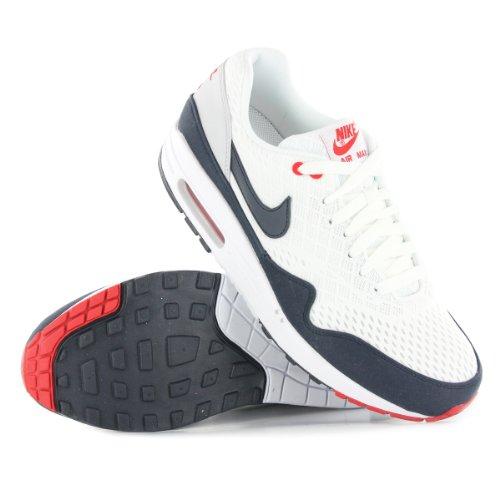Nike Air Max 1 Essential 537383 114 Weiß Grau Blau Größe 40