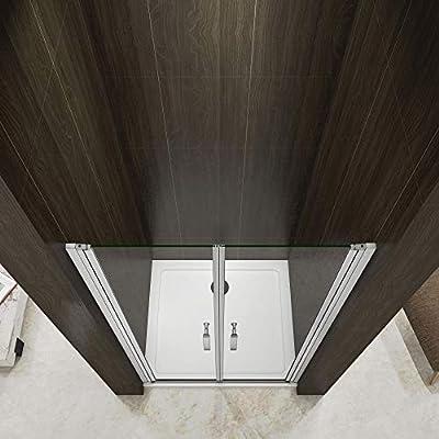 Mamparas de Ducha Puerta Abatible Doble 5mm Antical 120x185cm: Amazon.es: Bricolaje y herramientas