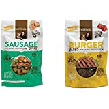 Rachel Ray Dog Treats 2 Pack Bundle Sausage Bites, Burger Bites (3oz Packs)