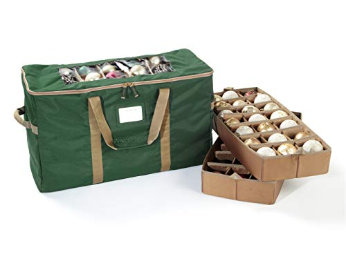 Covermates – 84PC Holiday Ornament Storage Bag – 3 Year Warranty- Green