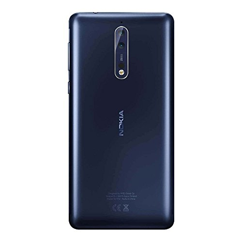 Nokia 8 TA-1004 64GB/4GB Dual Sim Polished Blue - Factory Unlocked Global Version - GSM ONLY, NO CDMA - NO Warranty in the US