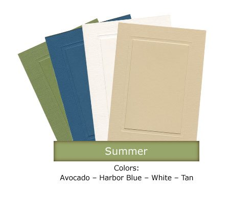 Summer 4x6 Photo Insert Note Cards - 24 Pack by Plymouth (Photo Graduation Announcements)