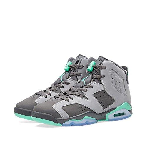 Jordan Air 6 Retro GG Big Kid's Shoes Cement Grey/Green Glow/Dark Grey 543390-005 (6.5 M US) by Jordan