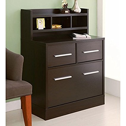 Hotchner Cappuccino Multi-storage File Cabinet Work Station by Furniture of America