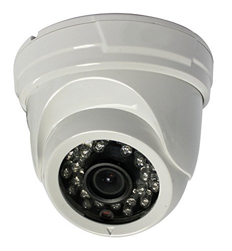 Proxy PCA8018W Indoor 1000 TVL Analog HD Eyeball Dome Camera with 70-Feet Night Vision, 1.3 MP, 3.6 mm Fixed Lens (White) [並行輸入品] B019SZG9UM