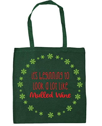 Bottle x38cm look Tote HippoWarehouse mulled It's 10 lot wine to litres 42cm Gym like Green Bag Shopping Beach beginning a zzUwtZq