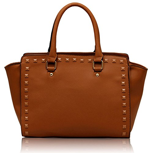 Shoulder Designer Style Tote Bags 3 Tan Leather Ladies New Croc Womens Handbags Design Faux qwEnx4B0YR