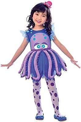 LIRAGRAM ESPAÑA, S.L.L. Disfraz de Pulpo Vestido para niña T1 (2/3A): Amazon.es: Juguetes y juegos