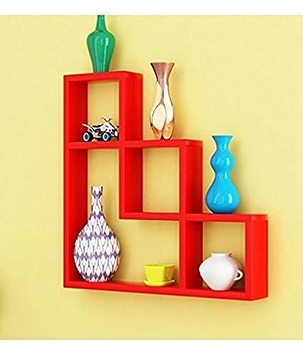 Decorasia L Shape MDF Wall Shelf Size - (17 x 4 x 17) Inch- Colour ...