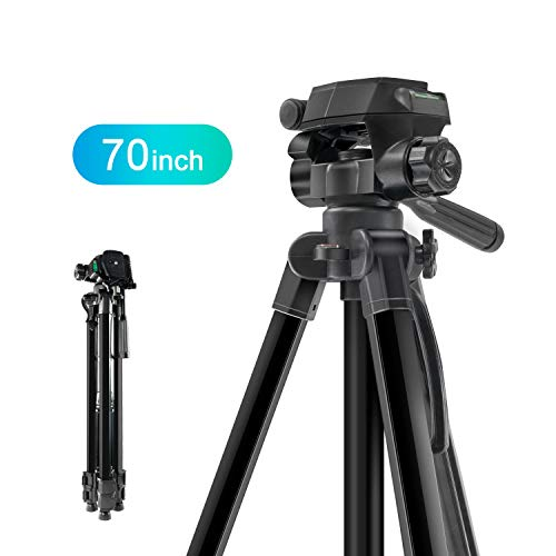 MOUNTDOG Camera Tripod 70'' Professional DSLR Aluminum Alloy Camera Travel Tripod Stand Light Weight Adjustable for Video Canon Nikon Sony Samsung Olympus Panasonic Pentax