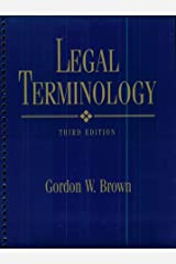 Legal Terminology (3rd Edition) Spiral-bound