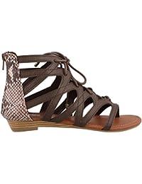Women's Santini Cutout Lace-up Open Toe Ankle Strap Gladiator Sandal