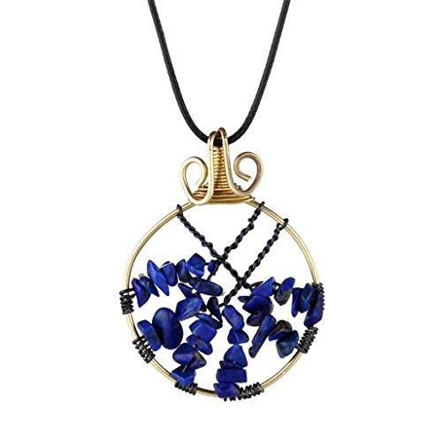 [Natural Lapis lazuli Pendant Necklace Handmade Necklace - Elegant garden] (Zora Link Costume)