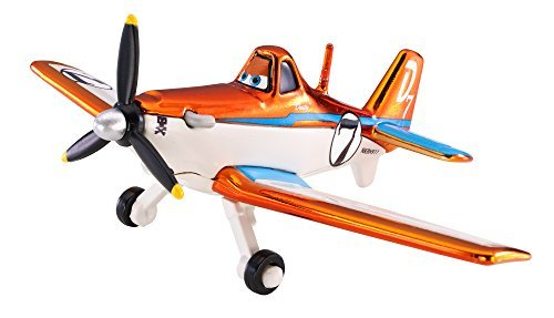 Disney Planes Racing Dusty Crophopper Collectible Die Cast Vehicle Mattel Disney Plains metallic Racing Dusty crop hopper [parallel - Racing Crop