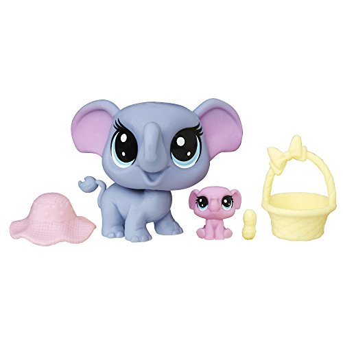 Littlest Pet Shop Indigo Trunkley & Pinkaboo Trunkley