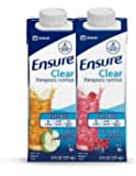 Ensure Clear! 8oz, New Reclosable Container (Variety Pack 12 x Apple & 12 x Mixed Berry)