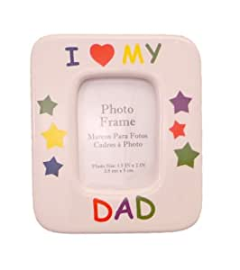 WeGlow International I Heart My Dad Picture Frame with Magnetic Back, 2 Frames