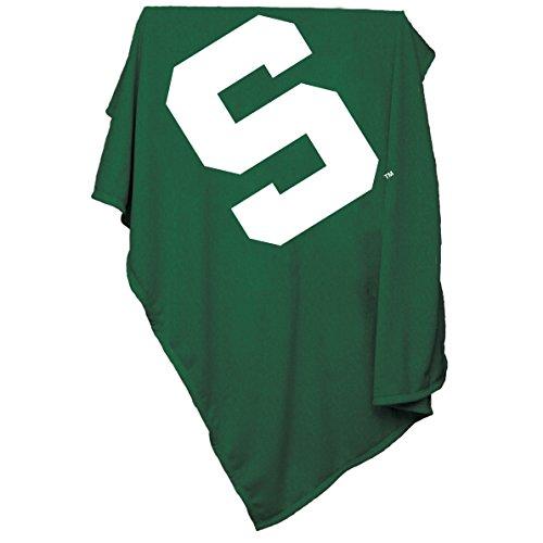 Logo Brands NCAA Michigan State Spartans Sweatshirt Blanket Michigan State Fleece Blanket