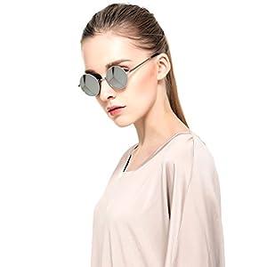 2016 Sexy Retro Oversized Large Round Sunglasses For Women Rainbow Mirrored