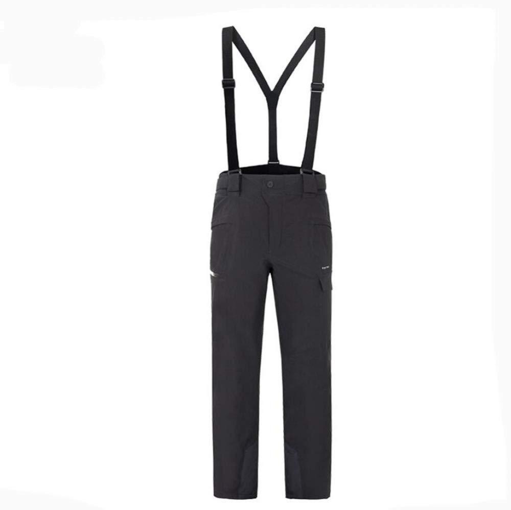 noir S AQWWHY Pantalons de Ski pour Femmes, imperméables, Taille Ajustable, Tenues de Ski Amovibles, Pantalons de Montagne pour Hommes en Plein air