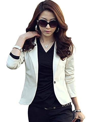 Legou Women's Slim OL Office Short Blazer Size XXL Beige (Office Coat)