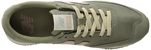 New Balance Womens 620 70s Running Lifestyle Fashion Sneaker Vetiver/Pink m7hI6TIJ