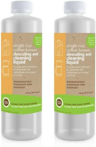 Full Circle Biodegradable Single Cup Brewer Cleaning and Descaling Liquid (2 Pack)