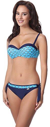 aQuarilla Bikini Conjunto para Mujer AQ120 Nevy Azul/Azul