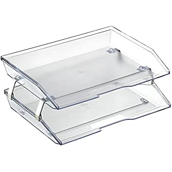 Acrimet Facility Double Letter Tray (Crystal Color)