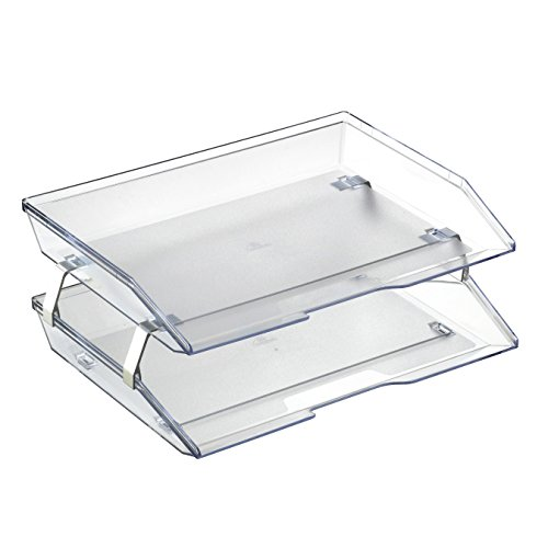 Acrimet Facility 2 Tiers Double Letter Tray (Clear Crystal Color)