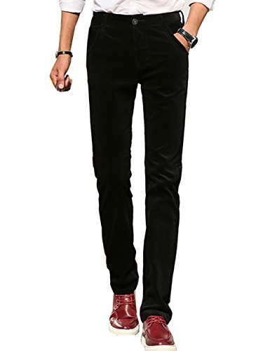 Menschwear Men's Pants Corduroy Stretch Slim Fit (30, (Surplus Corduroy Pants)