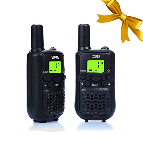 Walkie Talkies, Wireless Interphone 22 Channel FRS/GMRS 2 Way Radio 2 miles (up to 3 Miles) UHF Handheld Walkie Talkies for Kids,Business Outdoor Use (1 pair) (Black) (Hunting Gear For Boys compare prices)