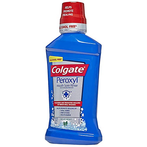 Colgate Peroxyl Mouth Sore Rinse, Mild Mint, 16.9 oz Pack of 2