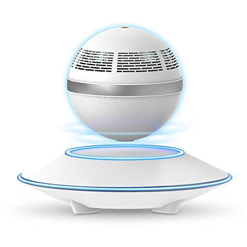 Levitating Bluetooth Speaker, ZVOLTZ Portable Floating Wireless Speaker with Bluetooth 4.0, 360 Degree Rotation, Built-in Microphone, One Touch Control for Bluetooth Connected Devices - White
