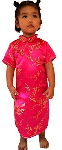 [Little Girls'Chinese Dress Princess Cheongsam Geisha Cosplay for Girls Size 10 Rose] (Little Miss Princess Costume)