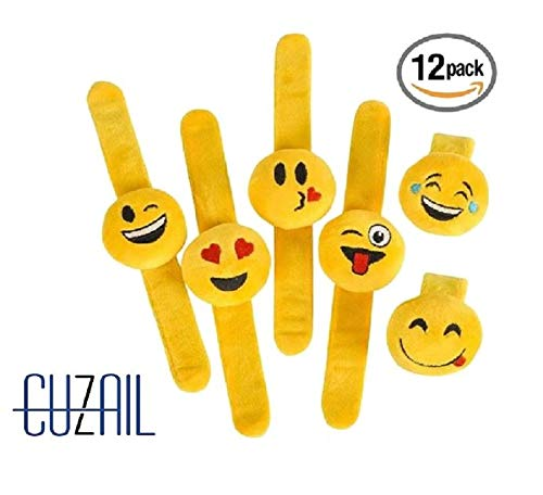 (CUZAIL Emoji Party Favors Party Supplies - Plush Slap Bracelet Pillow - 9