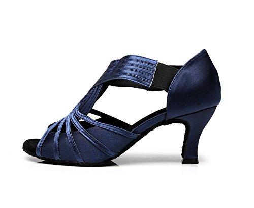 Latin Jazz Crystals Blue Salsa Heels Samba Sparking Modern 5 High JSHOE Our43 EU42 Women's Sandals Satin Tango UK7 Dance Shoes Chacha Shoes heeled6cm 5FqIv7w