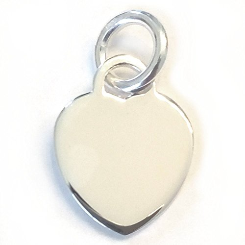 - Sterling Silver Heart Charm, Engravable Blank (20x16mm) By JensFindings