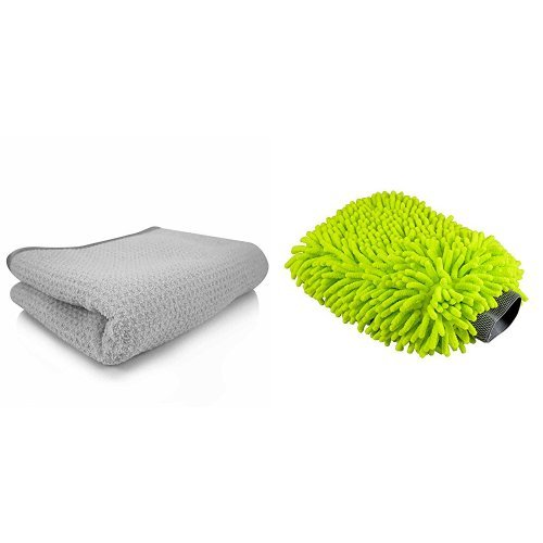 Chemical Guys MIC_781_01 Waffle Weave Gray Matter Microfiber Drying Towel (Chenille Waffle)