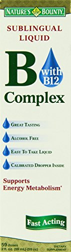 Nature's Bounty Vitamin B Complex Sublingual Liquid, 2 Ounce (Pack of 8) , Bounty -tktp by Nature's Bounty
