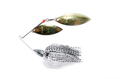 Nichols Lures Pulsator Metal Flake Double Willow Spinnerbait, Baby Bass, - Baby Oz 3/8 Bass