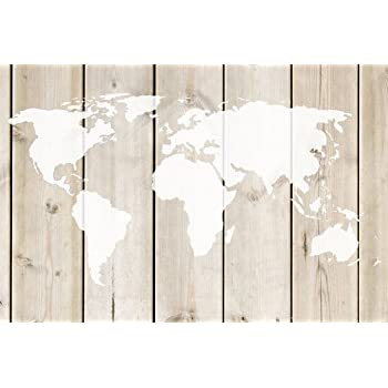 Amazon world map stencil 5633 inches home kitchen small world map wall stencil by designer stencils 10 mil plastic gumiabroncs Image collections