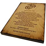 "USMC Retirement Gift - Ask Me What I Was Marine Corps 5.5"" x 8.5"" Sign"