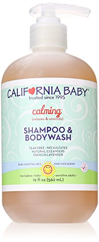California Baby Calming Shampoo and Body Wash, French Lavender, 19 Ounce