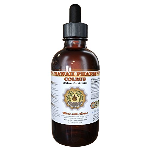 Coleus Liquid Extract, Coleus (Coleus Forskohlii) Root Tincture Supplement 2 oz by HawaiiPharm